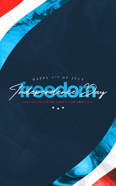 Independence Day Freedom Church Bulletin Cover