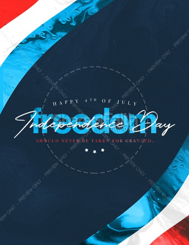 Independence Day Freedom Church Flyer