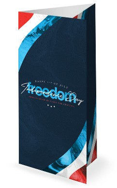 Independence Day Freedom Church Trifold Bulletin