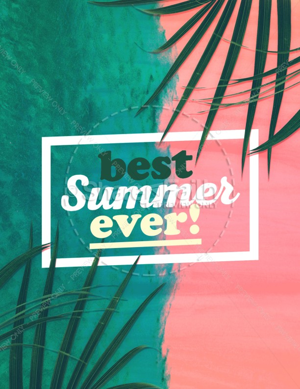 Best Summer Ever Church Flyer