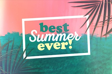 Best Summer Ever Church Motion Graphic