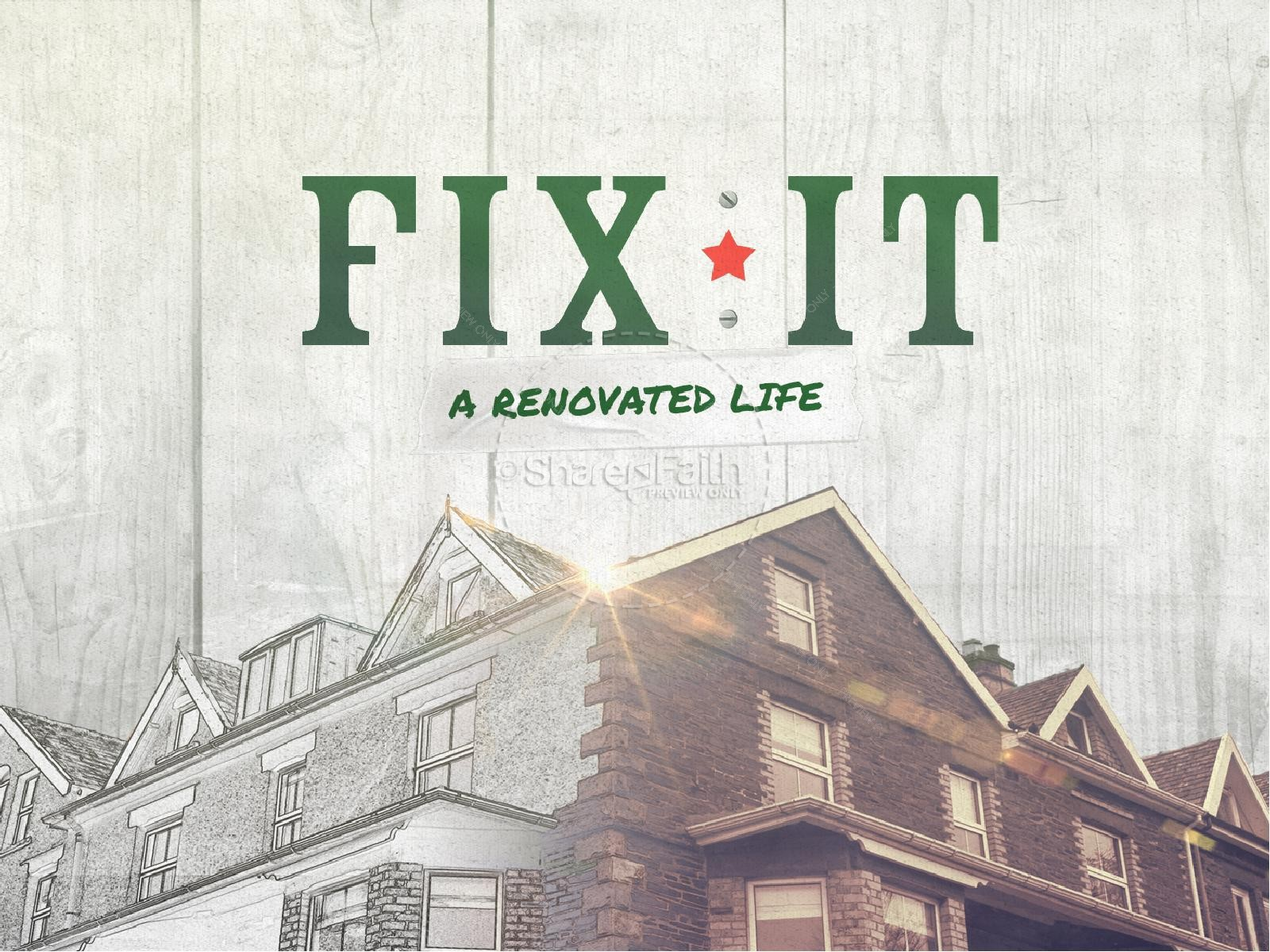 Fix It Church Sermon Graphic Title