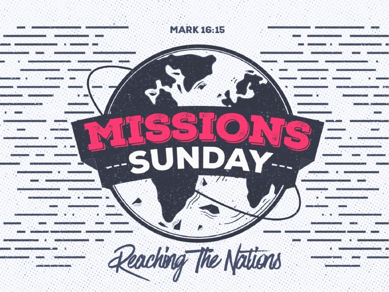 Missions Sunday Church Service Graphic