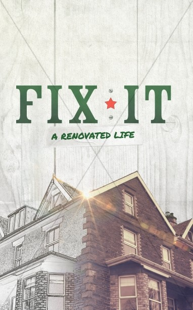 Fix It Church Sermon Bulletin Cover Design