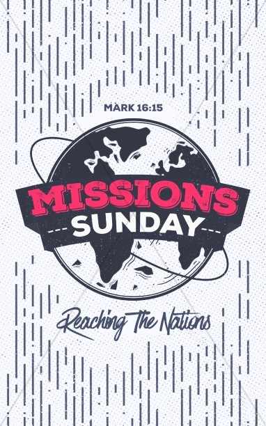 Missions Sunday Church Service Bulletin