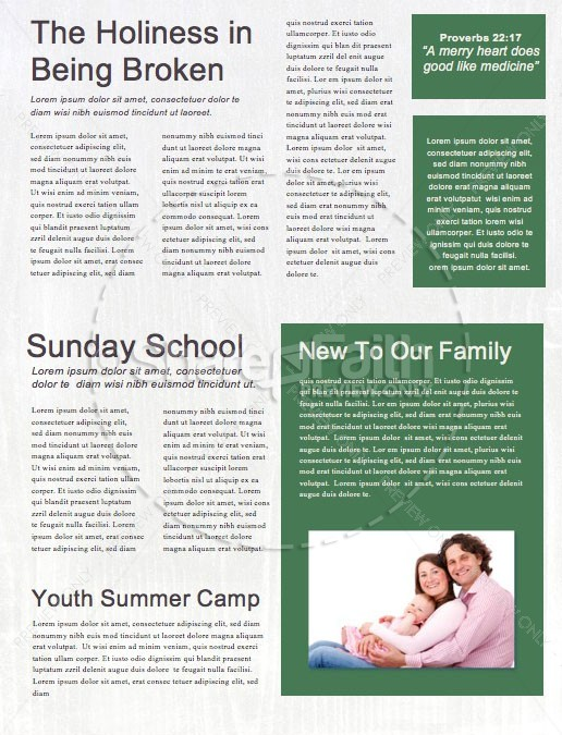 Fix It Church Newsletter Template