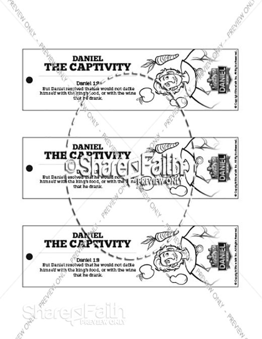 Daniel 1 The Captivity Bible Bookmarks