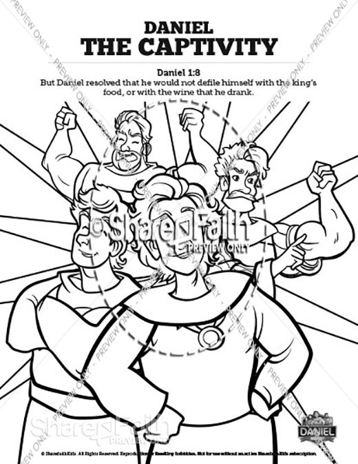 Daniel 1 The Captivity Sunday School Coloring Pages