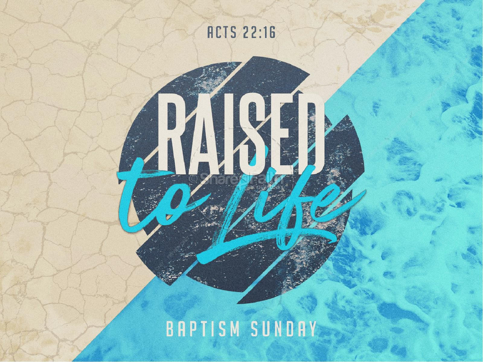 Raised To Life Baptism Church Graphics