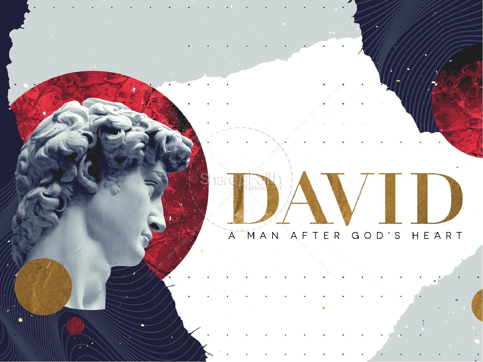 David A Man After God's Heart Sermon Series Graphic