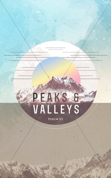 Peaks & Valleys Church Bulletin Cover