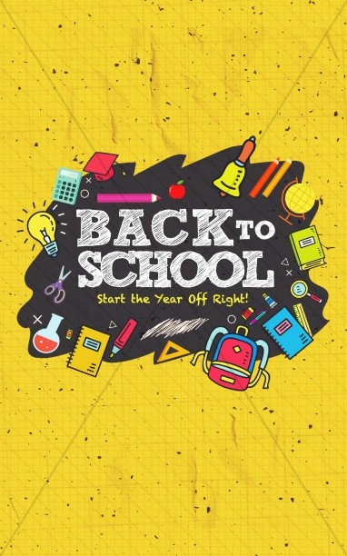 Back To School Student Ministry Bulletin