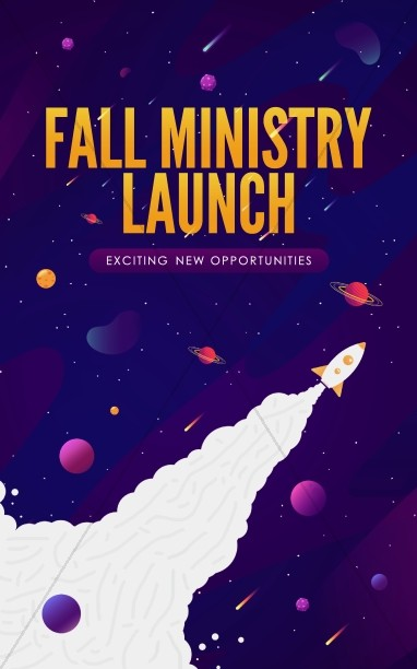 Fall Ministry Launch Church Bulletin Cover