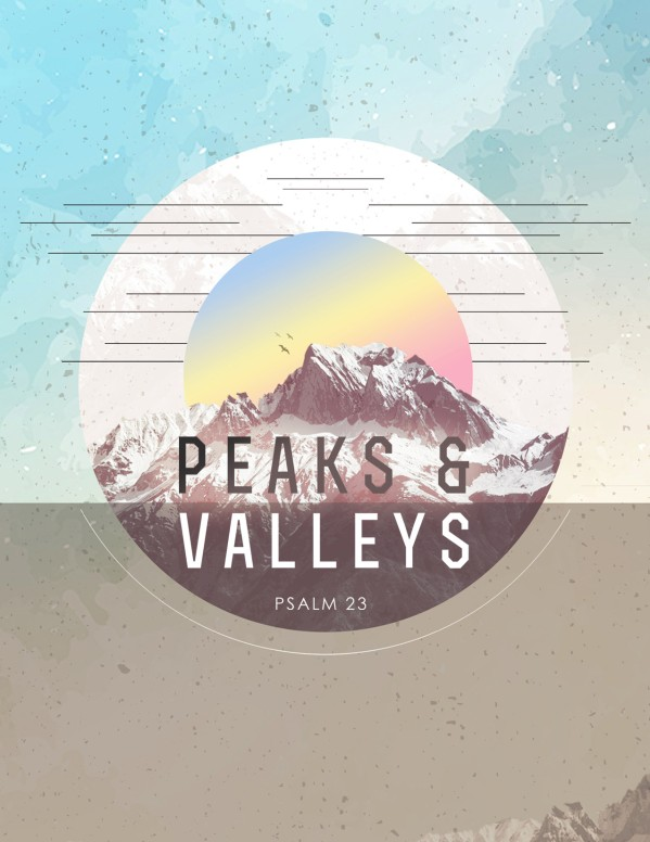 Peaks & Valleys Church Flyer Template