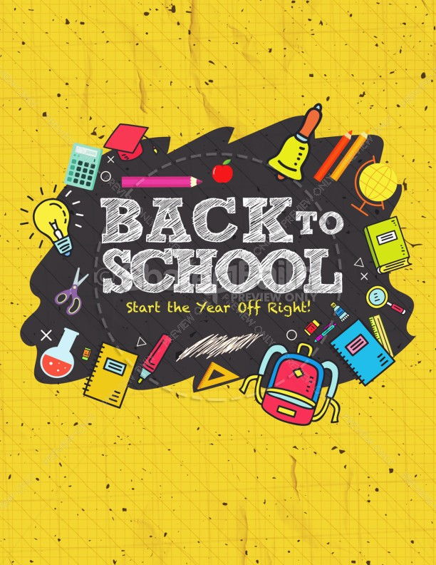 Back To School Student Ministry Flyer