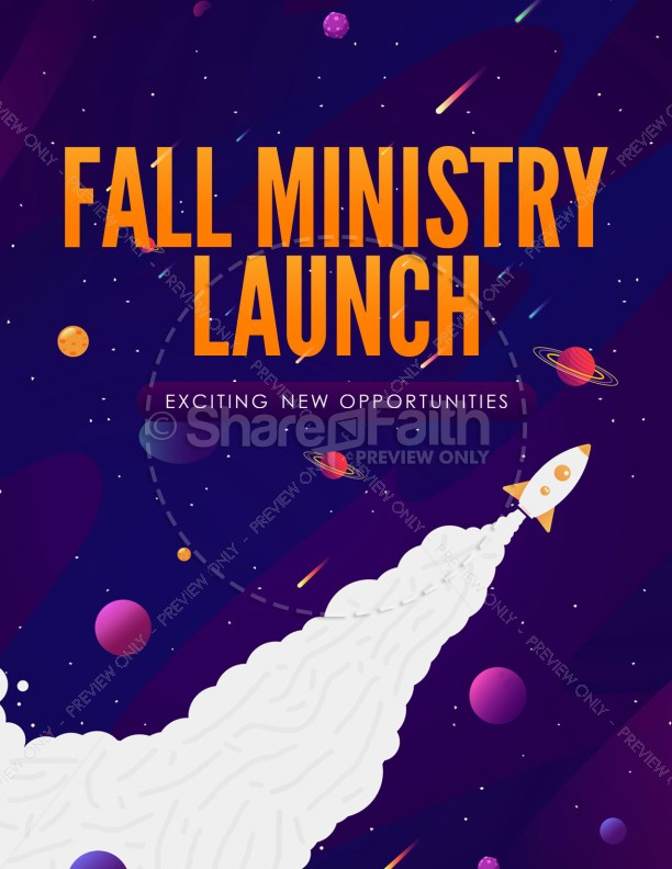 Fall Ministry Launch Church Flyer Template