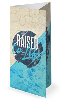 Raised To Life Baptism Church Trifold Bulletin