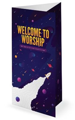Fall Ministry Launch Church Trifold Bulletin Cover