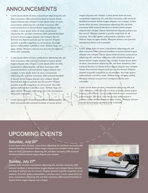 Peaks & Valleys Church Newsletter Template