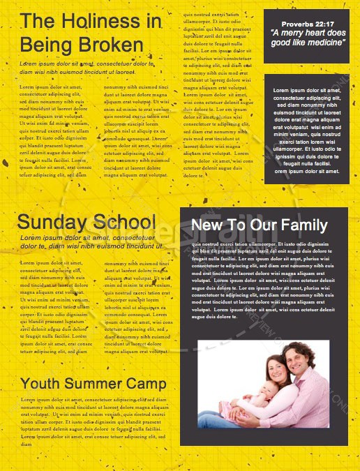 Back To School Student Ministry Newsletter