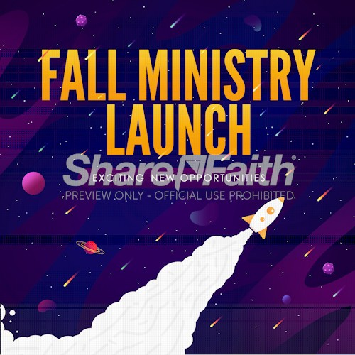 Fall Ministry Launch Church Social Media Graphic