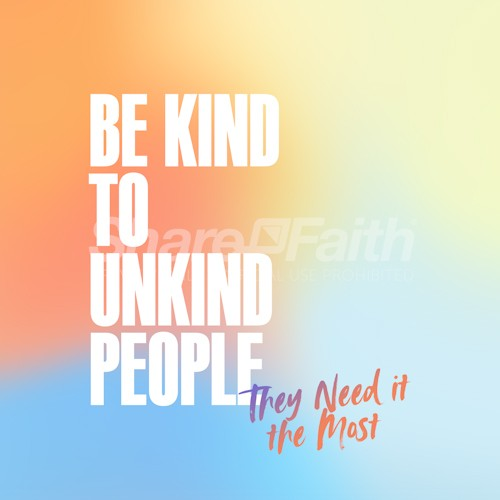Be Kind Social Media Church Graphic