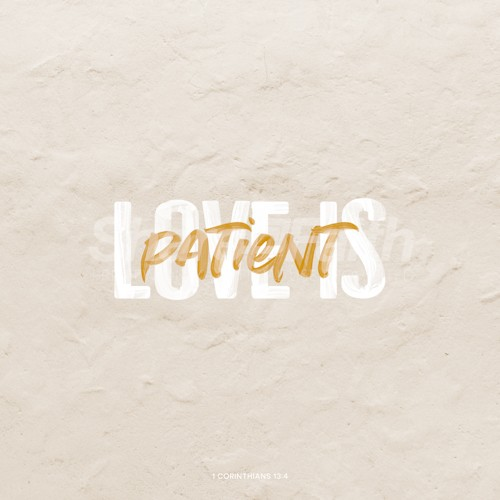 Love is Patient Social Media Graphic