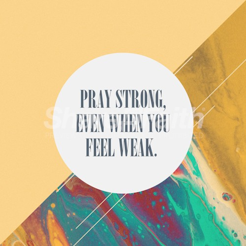 Pray Strong Social Media Graphic