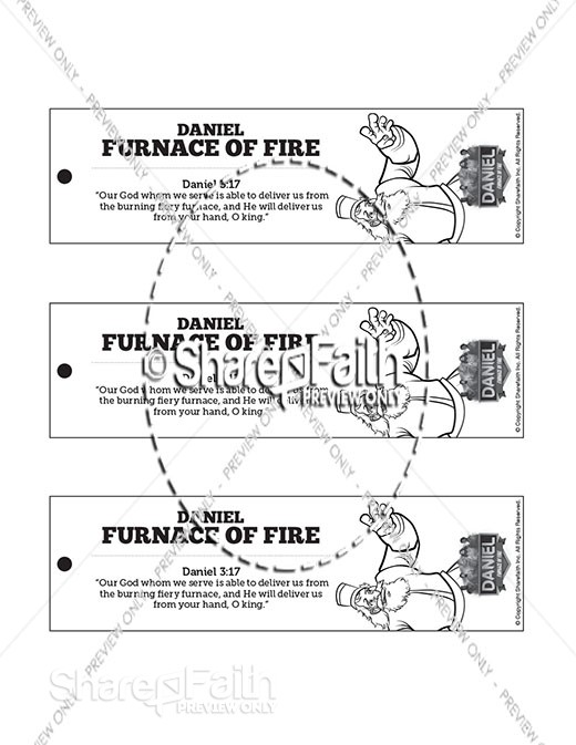 Daniel 3 The Fiery Furnace  Bible Bookmarks