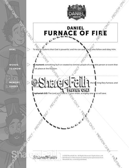 Daniel 3 The Furnace of Fire Curriculum