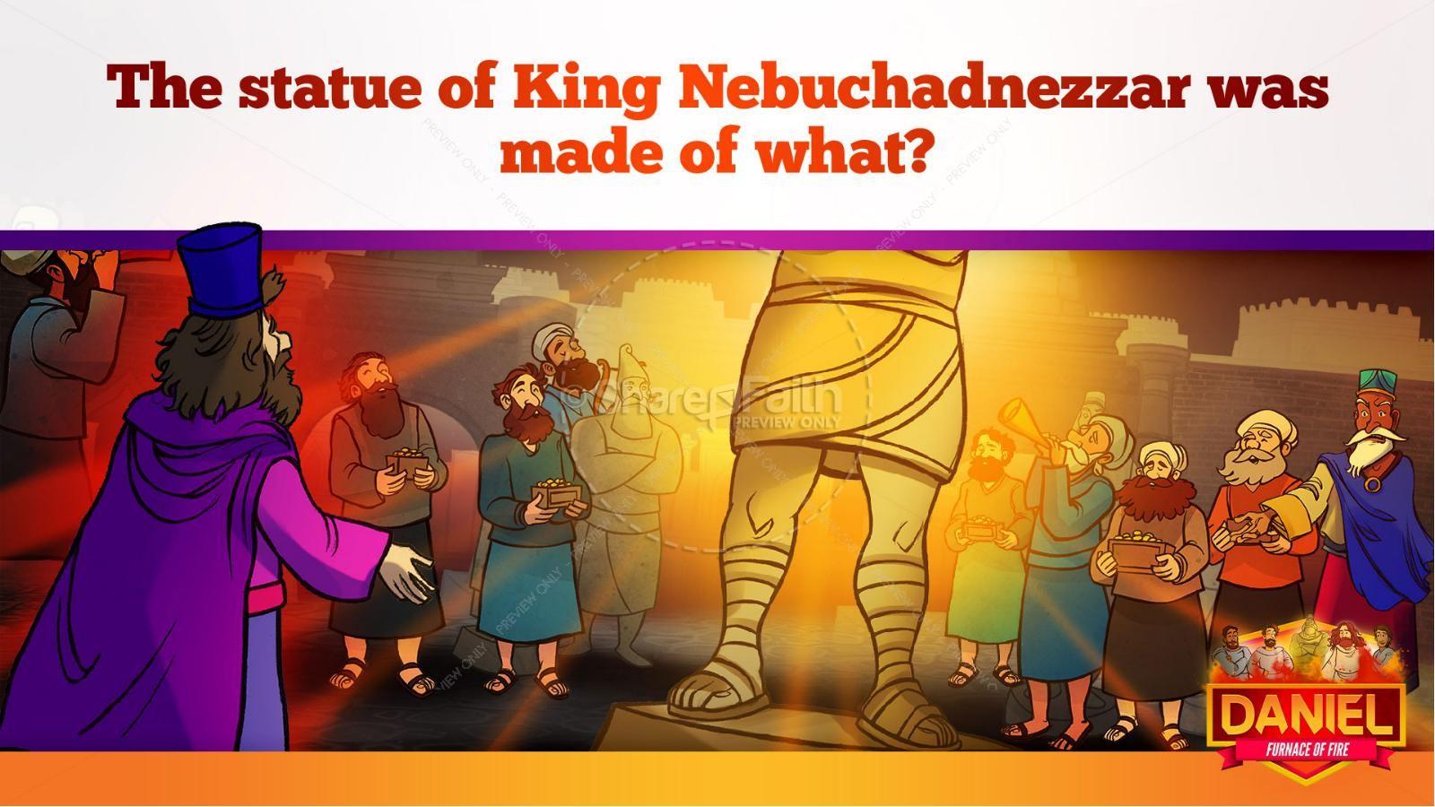 Daniel 3 The Furnace of Fire Kids Bible Story | slide 11