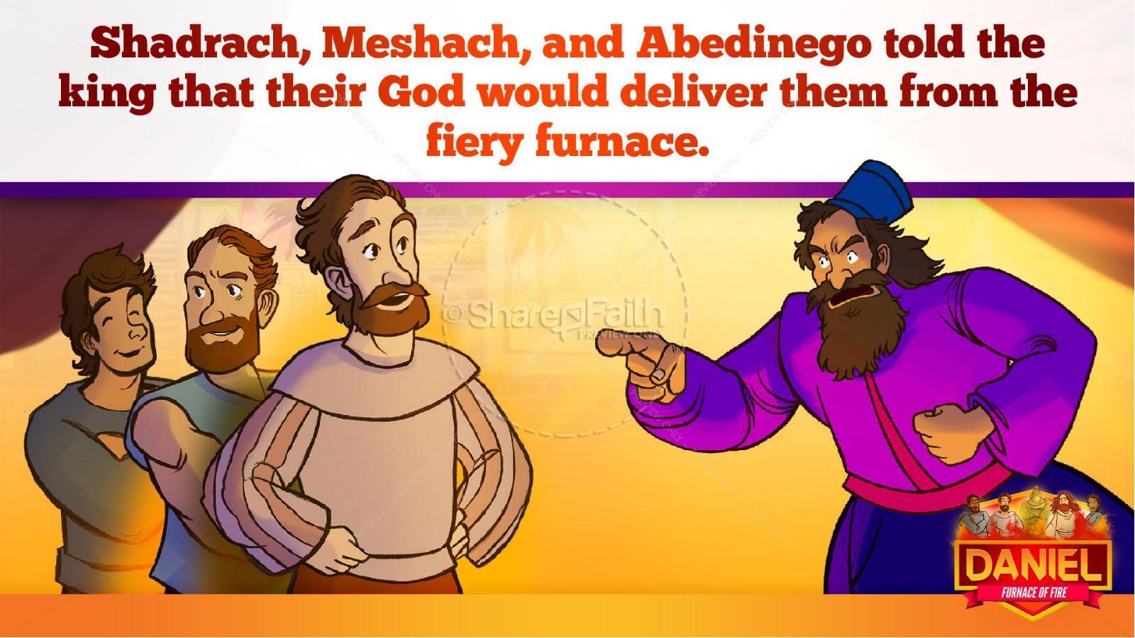 Daniel 3 The Furnace of Fire Kids Bible Story | slide 24