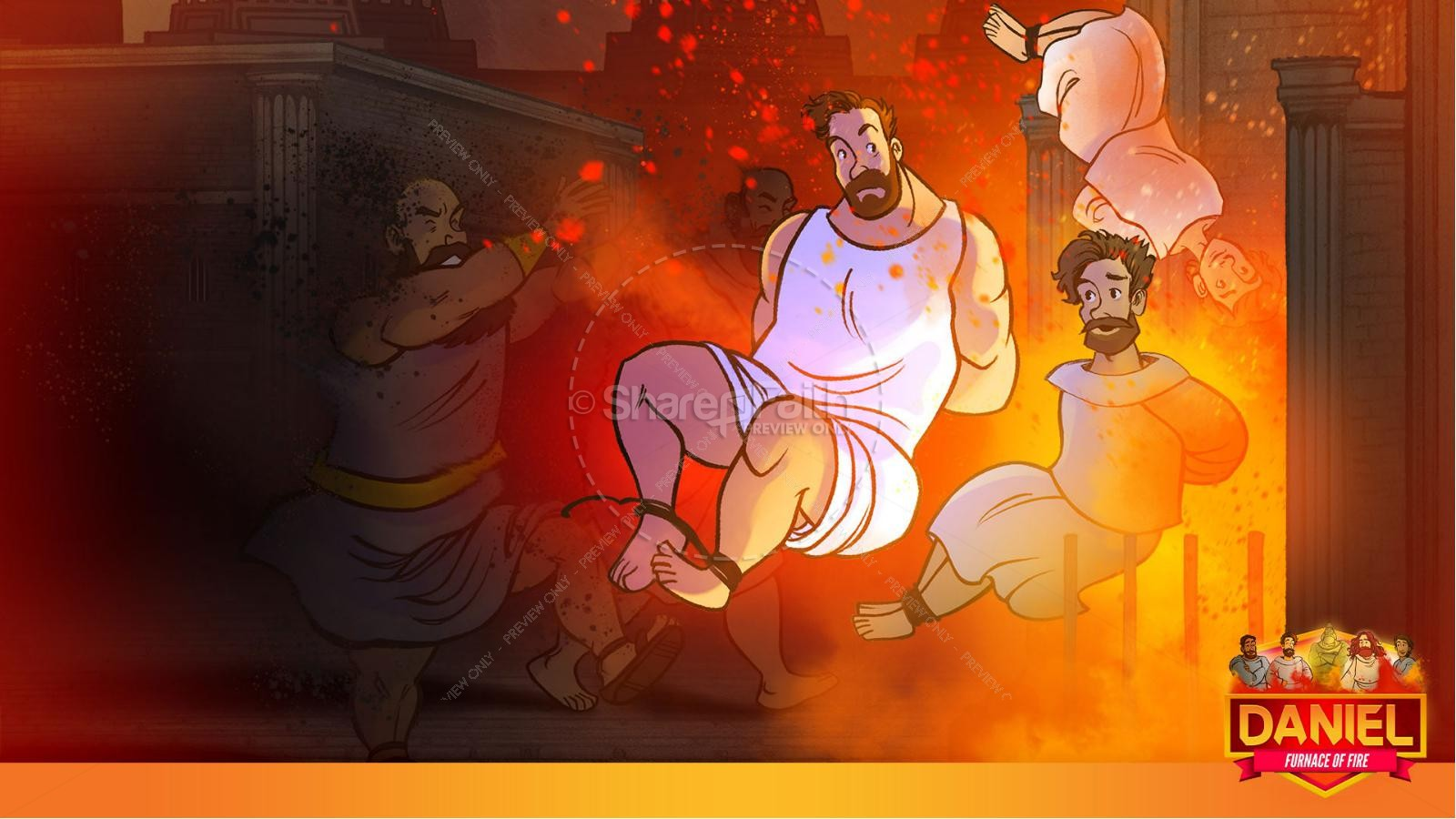Daniel 3 The Furnace of Fire Kids Bible Story | slide 26
