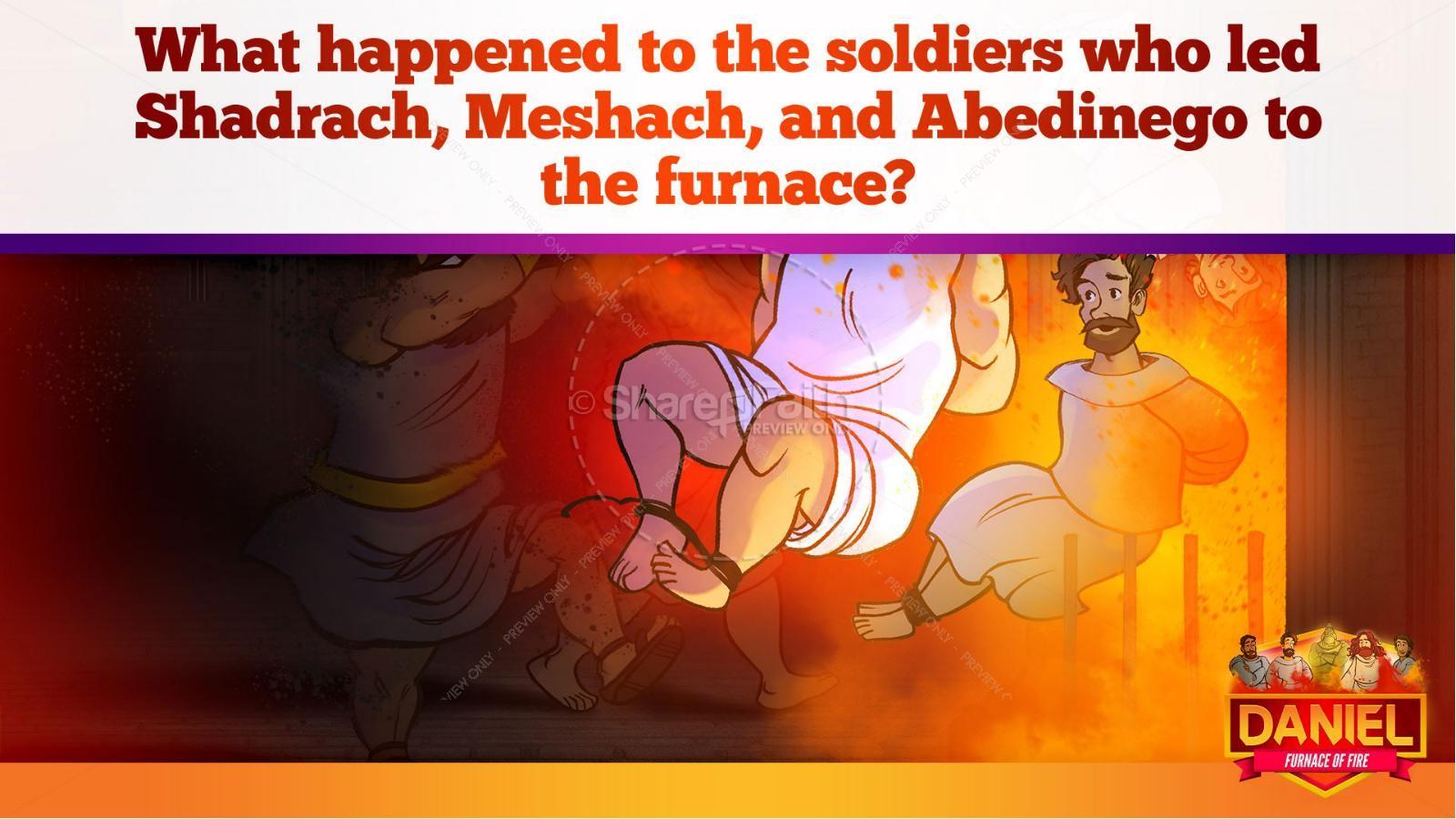 Daniel 3 The Furnace of Fire Kids Bible Story | slide 27