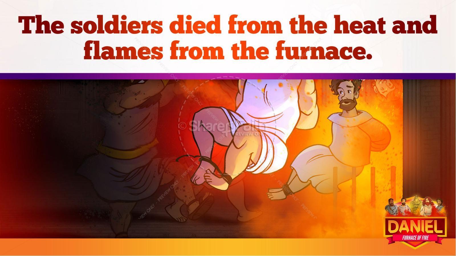 Daniel 3 The Furnace of Fire Kids Bible Story | slide 28