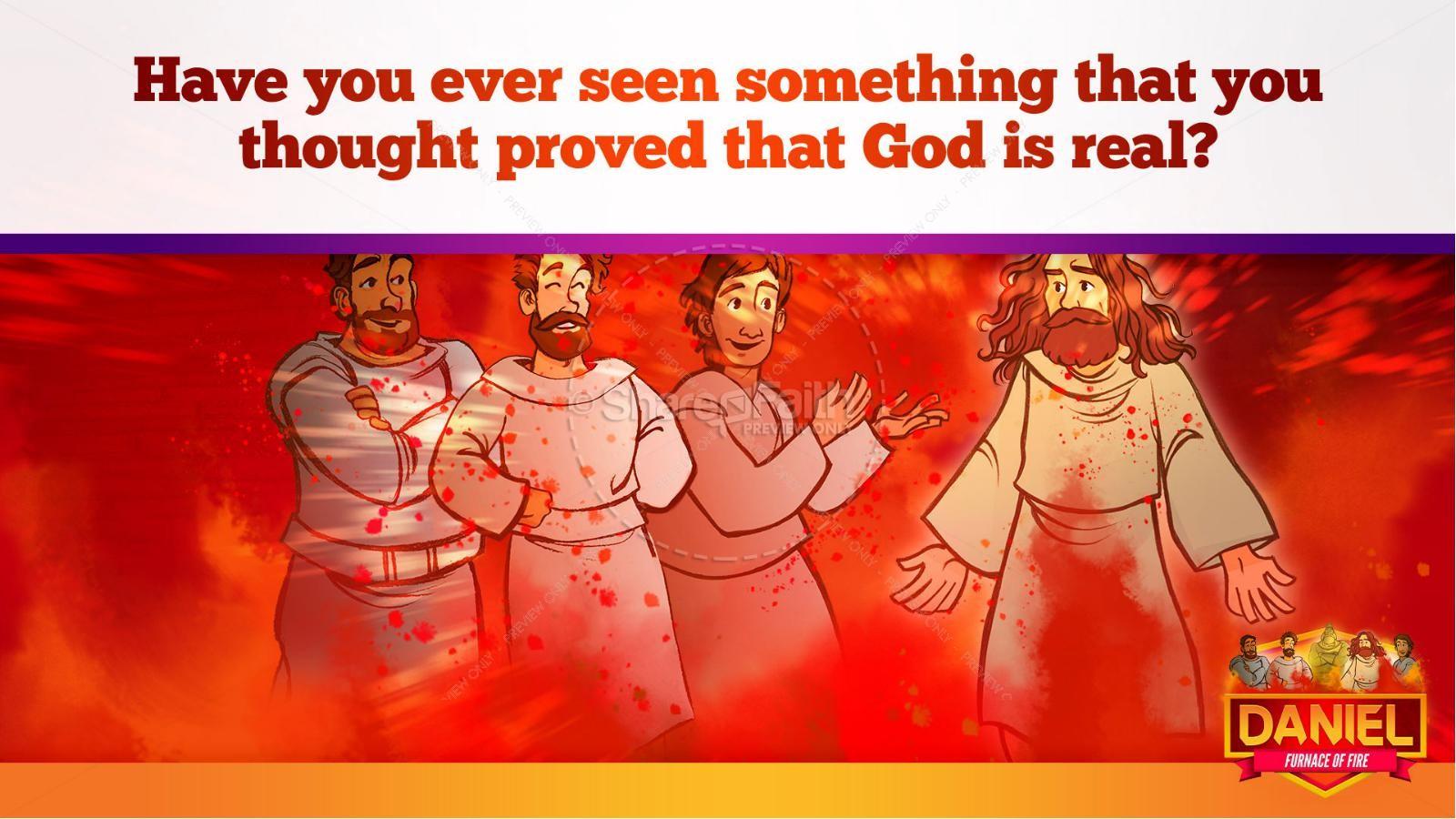 Daniel 3 The Furnace of Fire Kids Bible Story | slide 33