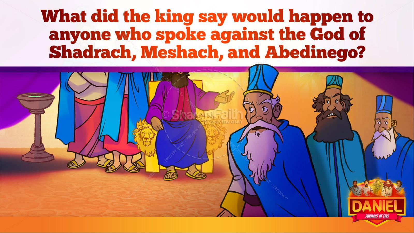 Daniel 3 The Furnace of Fire Kids Bible Story | slide 35
