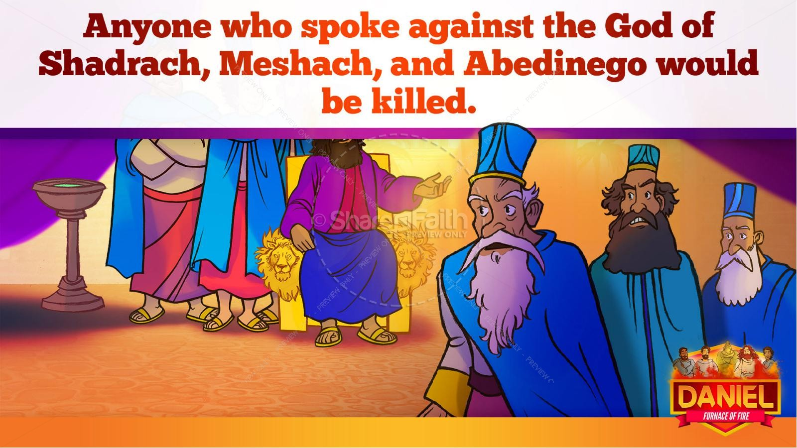 Daniel 3 The Furnace of Fire Kids Bible Story | slide 36