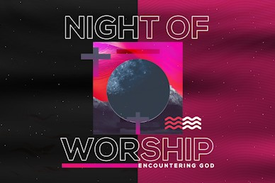 Night of Worship Church Event Title Video Loop