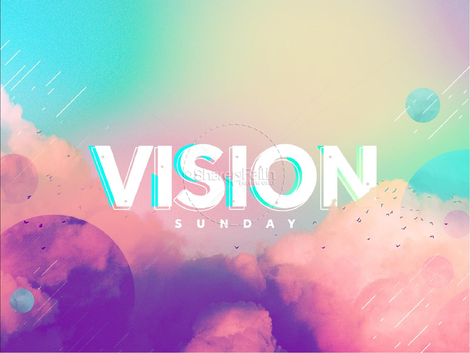 Vision Sunday Bright and Colorful Church Service Powerpoint