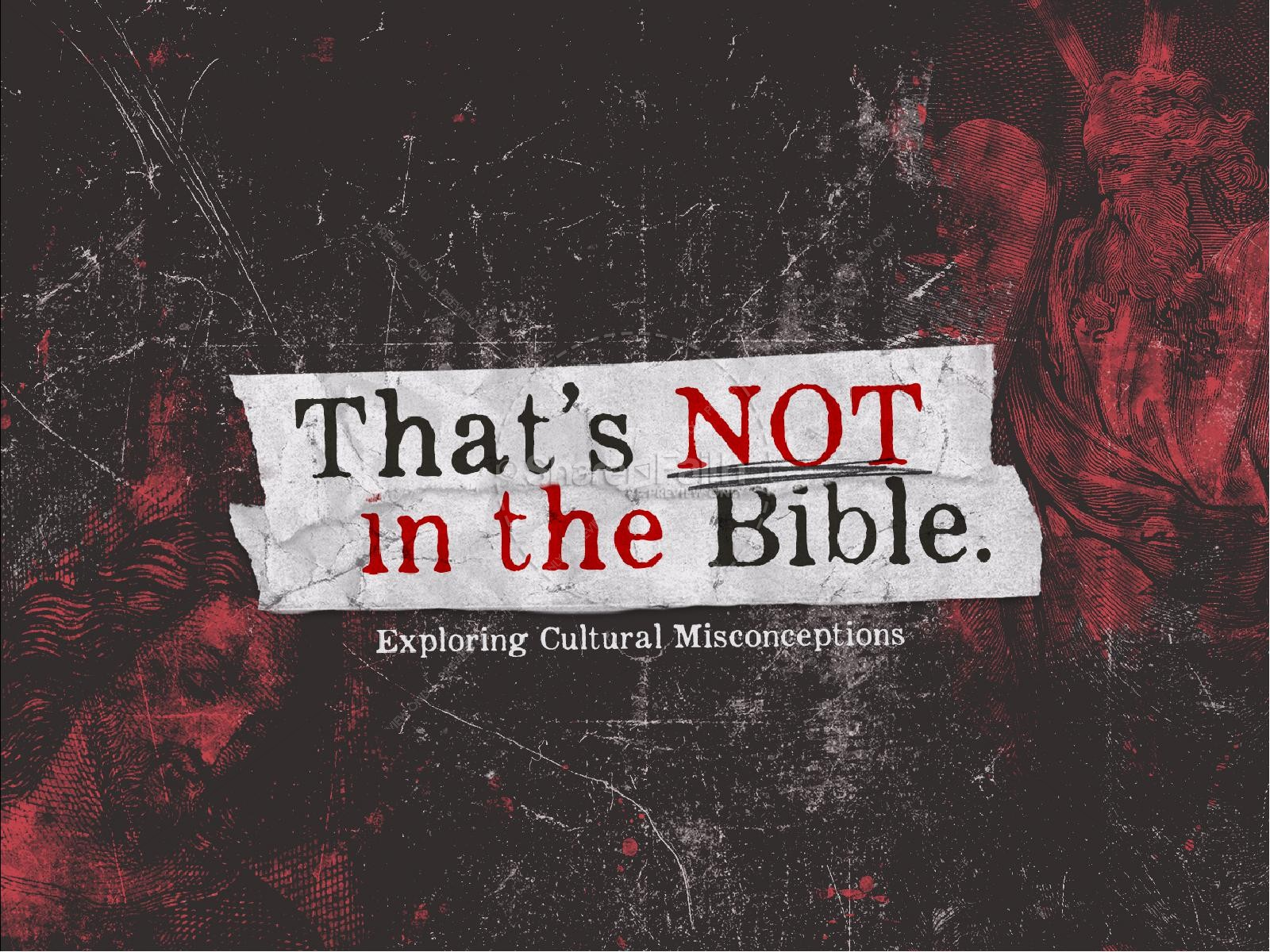 That's Not In The Bible Church Sermon Powerpoint | slide 1