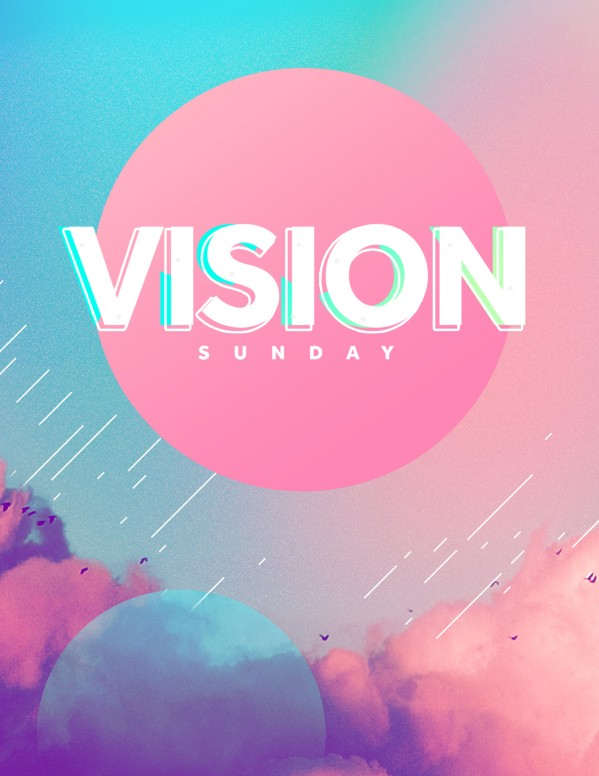 Vision Sunday Bright and Colorful Church Service Flyer