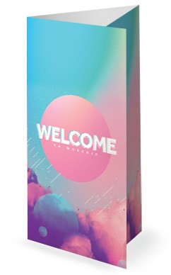 Vision Sunday Bright and Colorful Church Service Trifold Bulletin