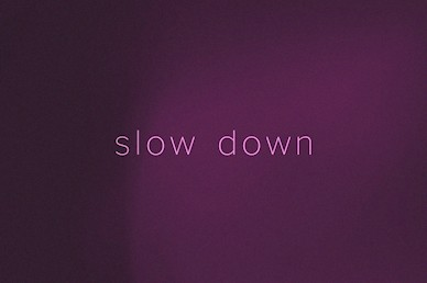 Slow Down Sermon Mini Movie
