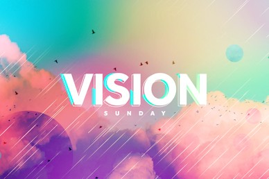 Vision Sunday Bright and Colorful Church Sermon Title Video