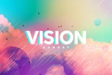 Vision Sunday Bright and Colorful Church Sermon Title Video