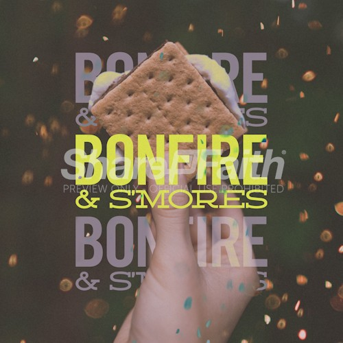 Bonfire & S'mores Social Media Graphic