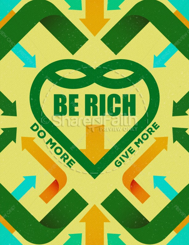 Be Rich Church Graphic Flyer