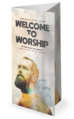 Man to Man Church Sermon Trifold