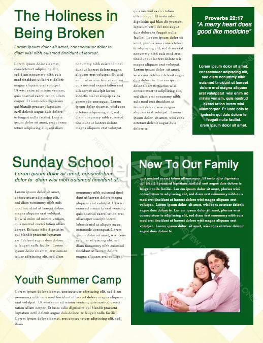 Be Rich Church Sermon Newsletter